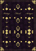 Rama starodawny wektor tle okładka lub karty książki — Wektor stockowy