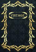Vintage Hintergrund Karte im viktorianischen Stil — Stockvektor