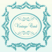 Vintage background card in Victorian style — Stock Vector