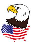 Американский белоголовый орлан — Cтоковый вектор