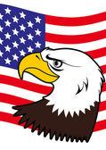 Aquila calva americana — Vettoriale Stock