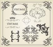 Vintage vektör arka plan kartı veya kitap kapağı öğesi — Stok Vektör