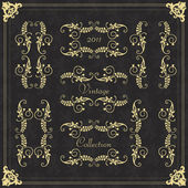 Vintage vector decorative frame for book cover or card background set — Stock Vector