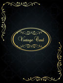 Lyxiga golden vintage bakgrund — Stockvektor