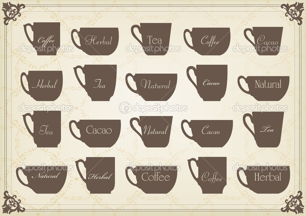 Vintage Cafe Wallpaper Vintage Tea And Coffee Cups