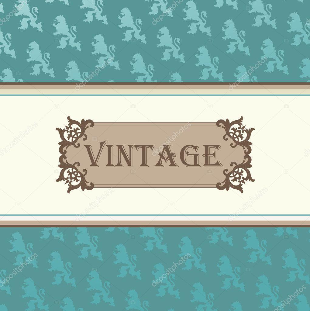 Vintage Book Cover Frame : Marco decorativo vector vintage para fondo de tarjeta o