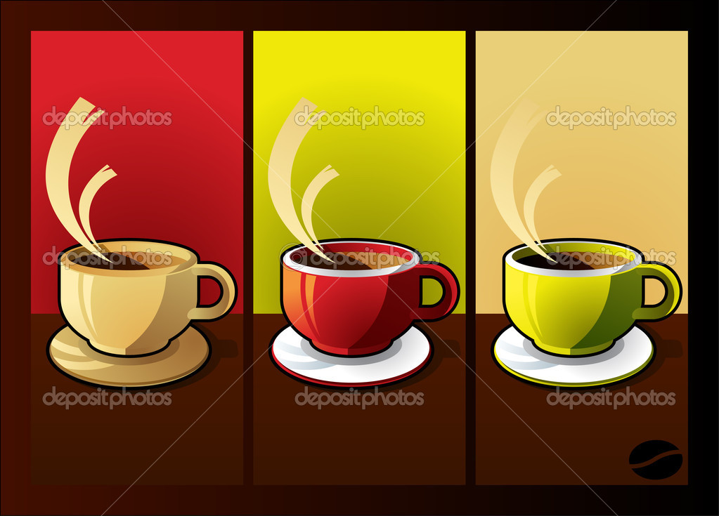 Tea or coffee cup with text space vector — Stock Vector #6744686