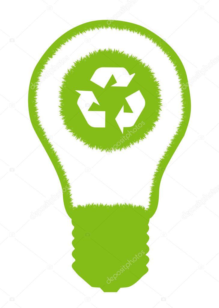 and eco symbol inside. Alternative energy concept vector — Stock ...