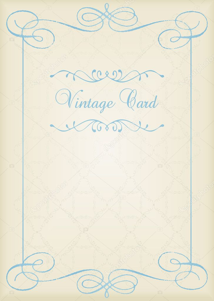 Vintage frames and elements background illustration vector — Grafika wektorowa #6744757