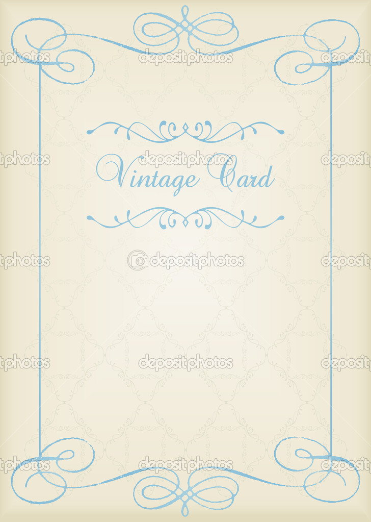 Vintage frames and elements background illustration vector — Stok Vektör #6744757