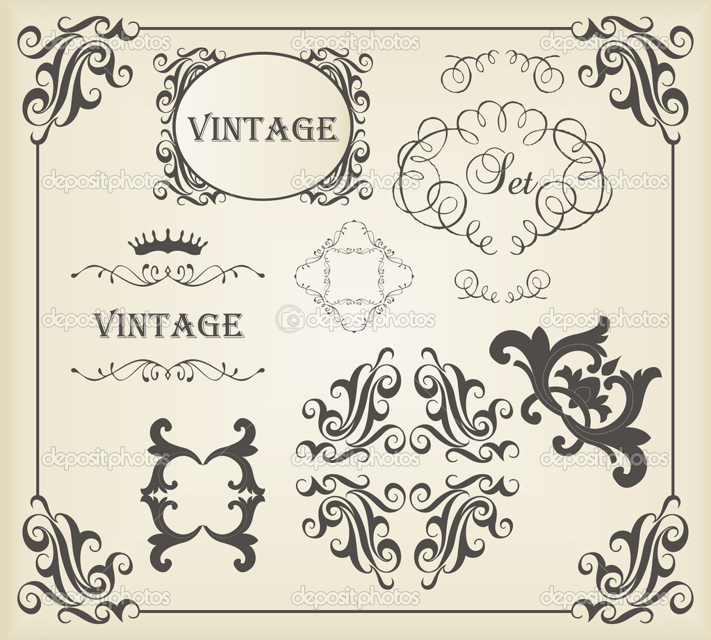Classic Book Covers Vector : Vintage vector background card or book cover element