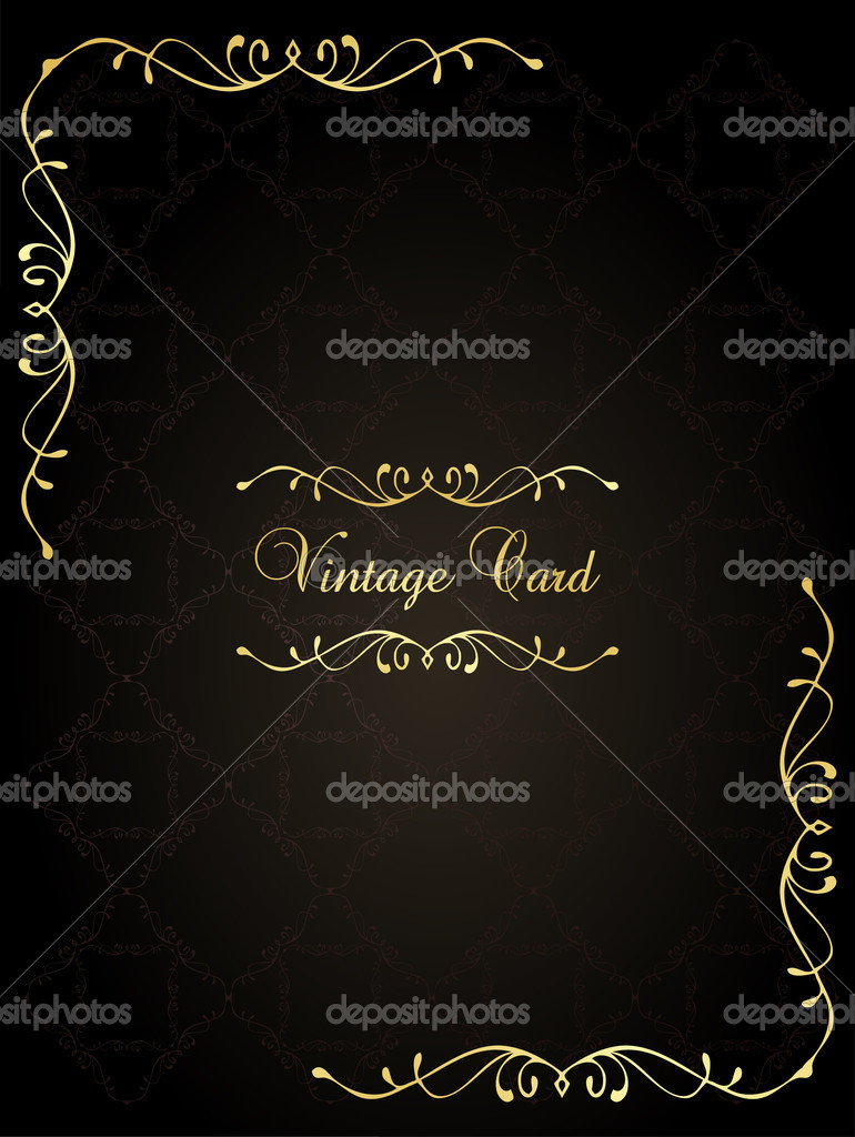 Classic Book Covers Vector ~ Vintage vector background book cover — stock
