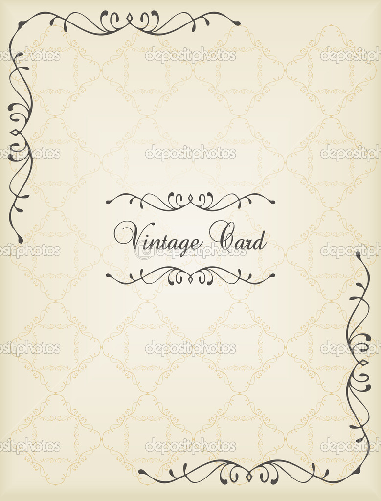 Classic Book Covers Vector : Vintage vector decorative book cover or card background