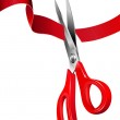 Cutting the Red Ribbon — Stock Vector