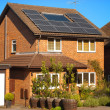 Solar panels on house — Stock Photo