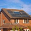 Solar panels on house - Stock Photo