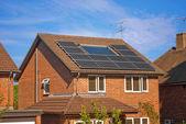 Solar panels on house — Stock Photo