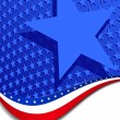 Royalty-Free Stock Vector Image: Stars & Stripes with Single star
