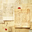 Letters background from 1800's example of handwriting — Stock Photo #6473141