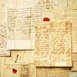 Letters background from 1800's example of handwriting — ストック写真 #6473141