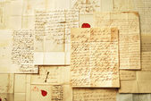 Letters background from 1800's example of handwriting — Stock Photo
