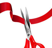 Cutting the Red Ribbon — Stock Photo