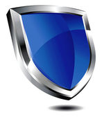 Modern blue shield — Stock Vector