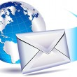 Stock Vector: Email mailing world