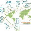 Travel around the world, vector illustration - Imagen vectorial
