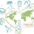 Travel around the world, vector illustration — Stock Vector