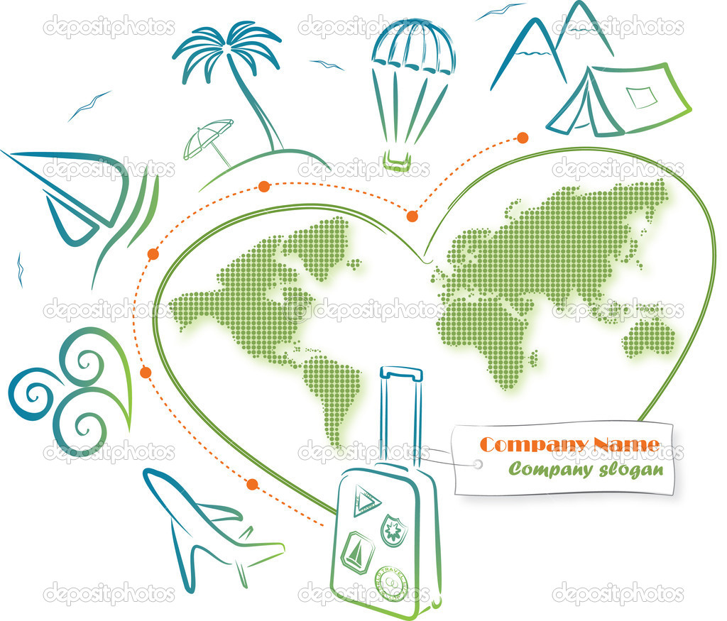 Travel around the world (icons). Vector Illustration.  Stock Vector #6054778