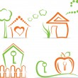 Home (icons), vector illustration - Stockvectorbeeld