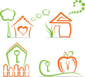 Casa (iconos), ilustración vectorial — Vector de stock