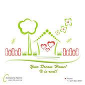 Casa dei sogni, illustrazione vettoriale — Vettoriale Stock