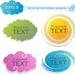 Four elements (stickers), vector illustration — Vettoriale Stock #6454919
