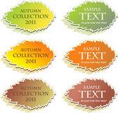 Set van herfst stickers, vectorillustratie. — Stockvector