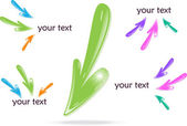 Colorful arrows (icons), vector illustration — Stockvektor