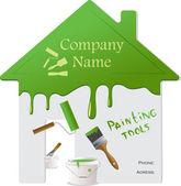 Riparazione a casa e gli strumenti di pittura, illustrazione vettoriale — Vettoriale Stock