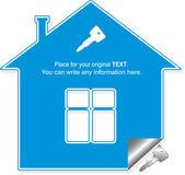 дом под ключ, векторные иллюстрации — Cтоковый вектор