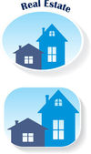Real Estate (icons), vector illustration — Vettoriale Stock