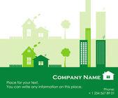 Verde de la ciudad, ilustración vectorial — Vector de stock