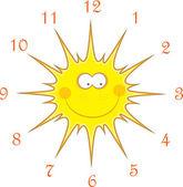 Sun hodinek, vektorové ilustrace — Stock vektor