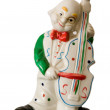 Clown Cello Player — Stock Photo
