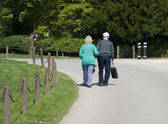 An Old Couple Walking — Stock Photo