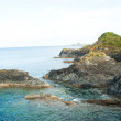 Stock Photo: Mevagissey rocks and coastline