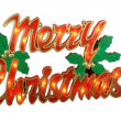 Stock Photo: Merry Christmas Sign