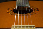 Classical Guitar View from Bottom — Stock Photo