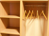Empty Wardrobe with shelves — Stock Photo