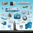 Travel icons and elements - Stockvectorbeeld