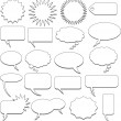 Talking bubbles - Stock Vector